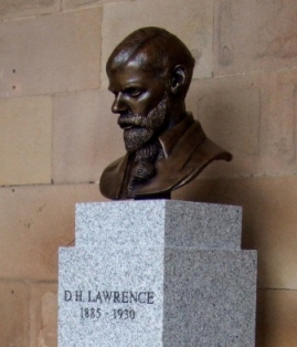 D.H. Lawrence Portrait bust